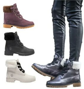pausa Loco De tormenta  NEW Timberland Women's Shoes Jayne Shearling-Collar Waterproof Pull On  Boots   eBay