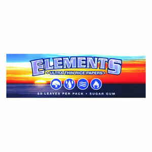 1x-Pack-Elements-1-25-Ultra-Thin-Rice-Rolling-Papers-50-Leaves-per-Pack-1-1-4