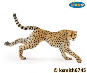 Papo-RUNNING-CHEETAH-solid-plastic-toy-wild-zoo-animal-cat-predator-NEW