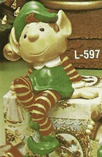 Ceramic Bisque Ready to Paint Santa's Elf sits on Mantles or shelves