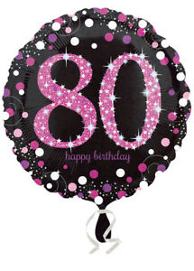 Pink-and-Black-80th-Birthday-Helium-Balloon