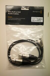 Blackmagic Design 19 5 Mini Xlr Cable Set Of 2 Ebay