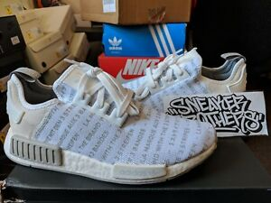 d74fad14315d Details about Adidas NMD R1 Nomad Boost The Brand With 3 Three Stripes  Whiteout White S76518