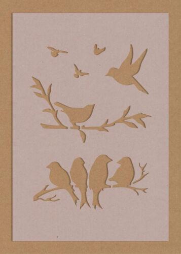 Mixed Birds Flying  Branch Stencils crafting crafts decorating spray