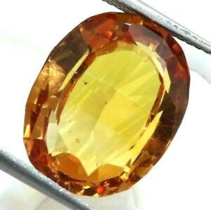 13.20 Ct Natural Orange Sapphire Oval Cut AGSL Certified Loose Gemstone