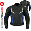 miniature 19 - Leather Motorbike Motorcycle Jacket With CE Armour Sports Racing Biker Thermal