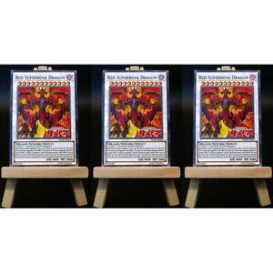 Yugioh-proxy-3x-Playset-red-supernova-Dragon-card-Orica-Custom-rotdrachen