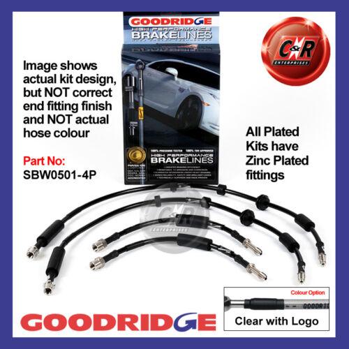11 sur Goodridge zinc plaqué GLC frein tuyaux sbw0501-4p F10 BMW série 5