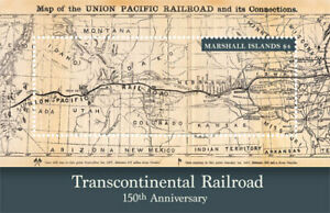 Details about Marshall Islands 2018 transcontinental railroad map I201901