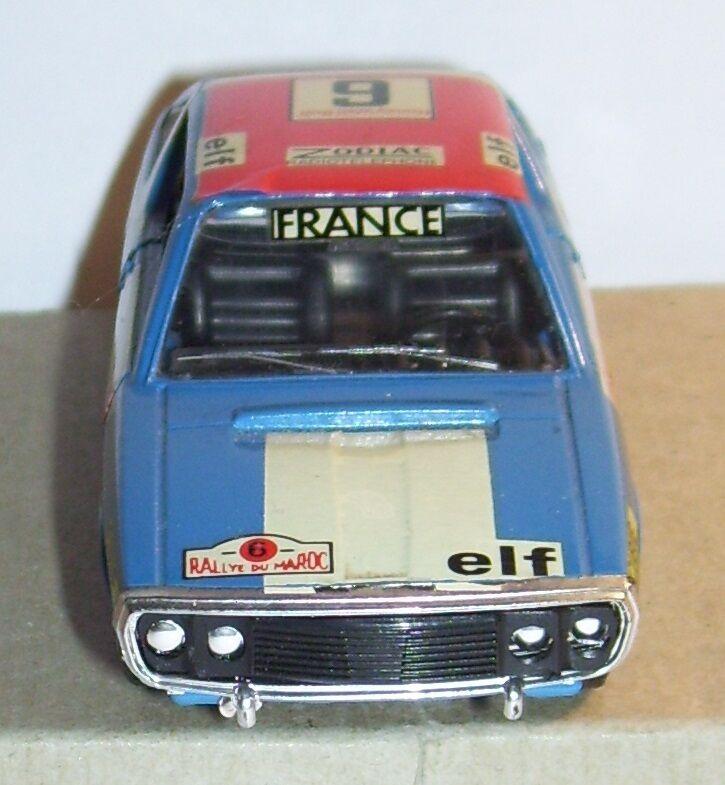 RARE SOLIDO ORIGINALE RENAULT 17 TS N°6 N°6 N°6 RALLYE DU MAROC blueE 1972 REF 196 1 43 c7ea84