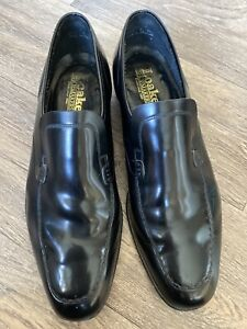 Vintage-Loake-Slip-On-Black-Buisness-Shoes-UK-11E