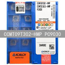 10PCS//Box Korloy CCMT09T302-HMP PC9030 CCMT32.50.5-HMP Carbide Inserts New