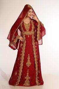 Dubai Bridal Ladies Kaftan Islamic Abaya New MOROCCAN Farasha Jilbab Dress #K48