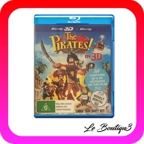1 of 1 - The Pirates! - Band Of Misfits (Blu-ray, 2012,3D & 2D) EX-RENTAL