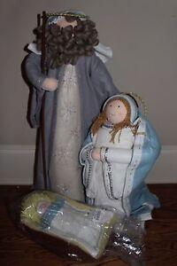 Nib Pottery Barn Jumbo Nativity Scene Mary Joseph And