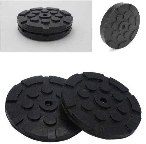 4Pcs//Set Heavy Duty Black Round Soft Rubber Arm Pads for Car Auto Lift Dia 120mm