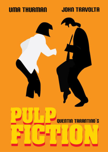 A3 Size pulp fiction orange color movie cinema film POSTER Art #21