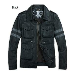 RE6-Resident-Evil-6-Leon-Kennedy-039-s-Leather-Coat-Biker-Knight-Motorcycle-Jacket