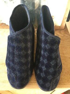 Balmoral Uomo Blu Scuro Con Motivo Rip Pantofole Con-uk Tape 6-mostra Il Titolo Originale Stile (In) Alla Moda;