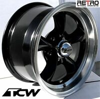 1982-2003 Chevy S10 Truck 2wd Wheels 15 Inch 15x7 Black Rims 0 Offset 5x4.75