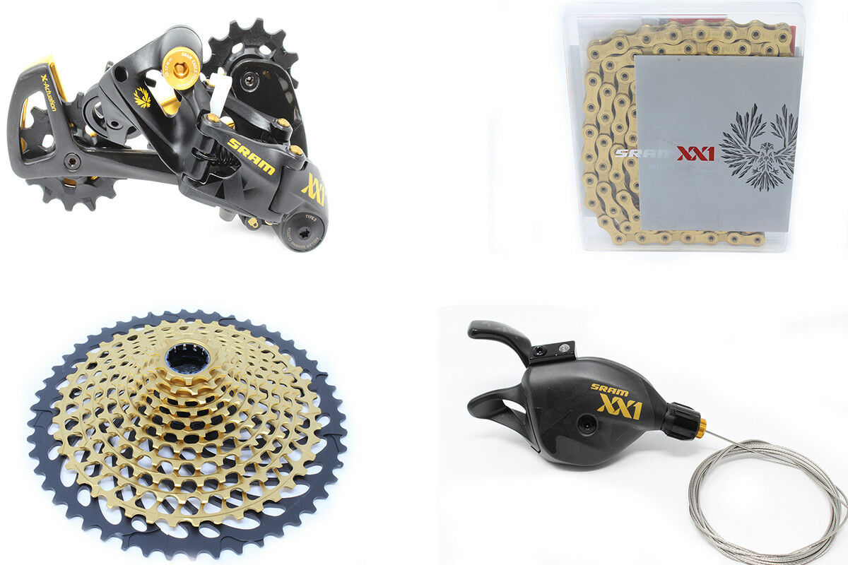 BRAND NEW SRAM XX1 Eagle gold 12-Speed Drive Train Kit Groupset (4 pieces)