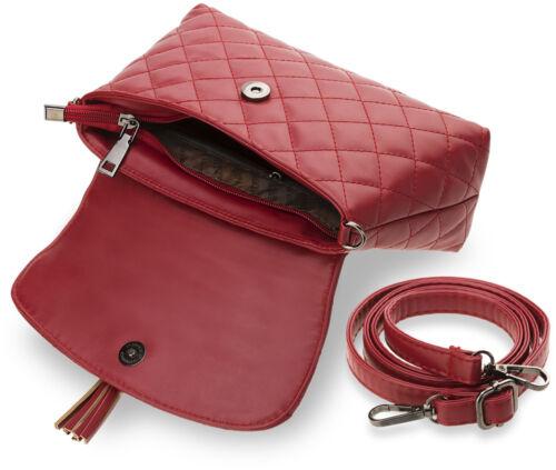 Tasche mit Fransen Damentasche Design ! kleine Schultertasche geprägte Clutch