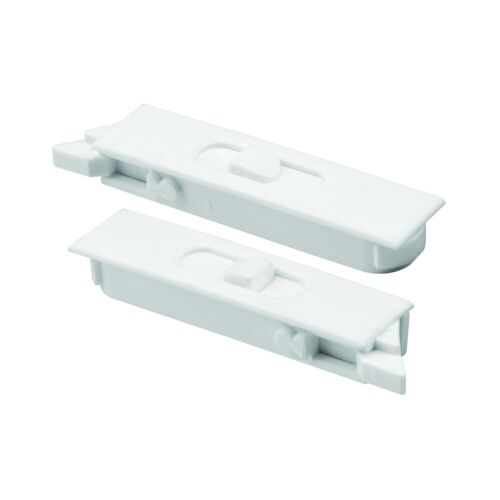 Spring White Plastic Construction Prime-Line Products F 2749 Tilt Latch Pair