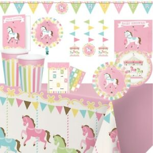 Carousel Horse Party Supplies Tableware Balloons Decorations