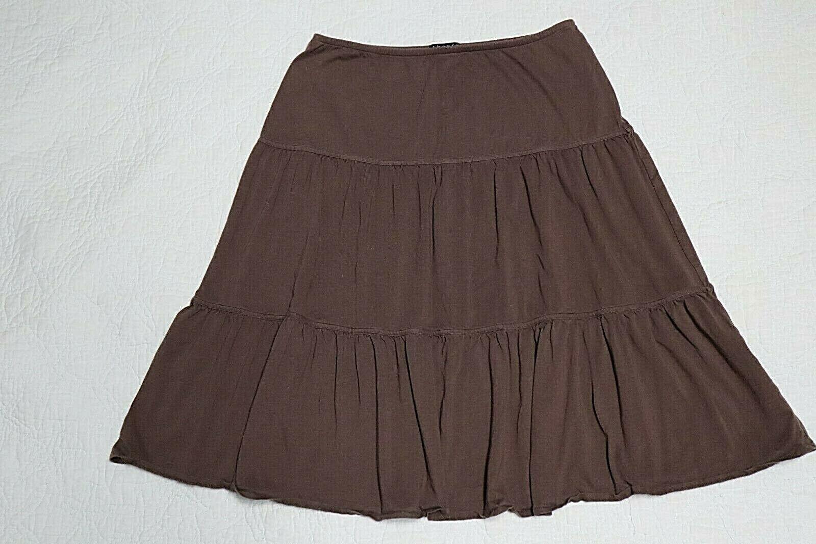 THEORY braun Stretch Skirt  Größe P (26W x 22 3 4L) PERU