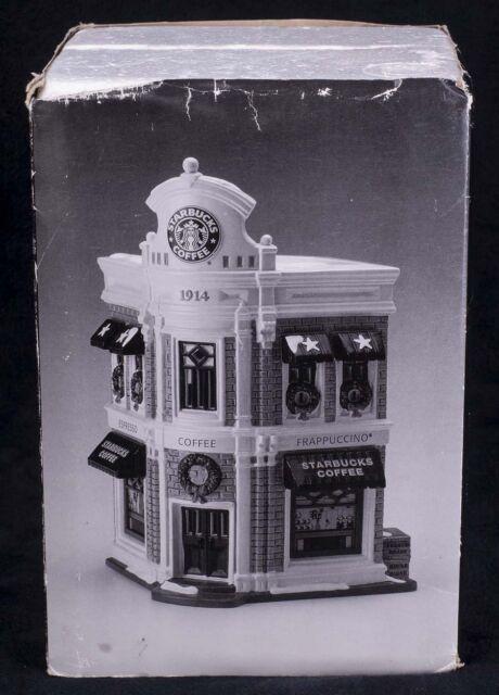 Dept 56 Snow Village Original STARBUCKS COFFEE Christmas Display 54859
