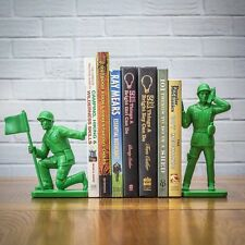 Toy Soldier Bookends ~ green soldiers for book shelf fun ~ Boxed