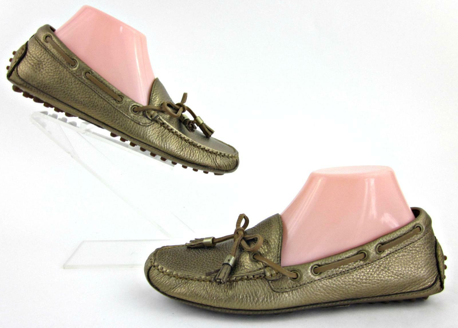 Cole Haan Grant donna Driving Moccasins Mettuttiic oro Leather 7B Fantastic