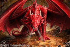 ANNE STOKES DRAGONS LAIR - 3D CULT FANTASY PICTURE 400mm x 300mm