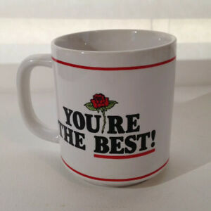 Vintage-1982-Coffee-Mug-You-039-re-The-Best-Secretary-Rose-Wallace-Berrie-Retro-Gift