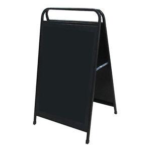 quality blackboard a frame board chalk board sandwich board chalkboard sign ebay. Black Bedroom Furniture Sets. Home Design Ideas