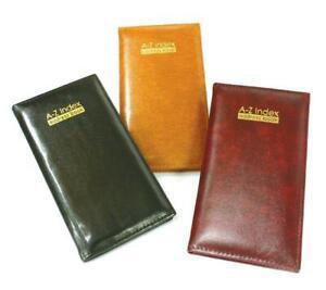 A6 A-Z Slimline A to Z Address Book Executive Style Soft Padded Faux Leather