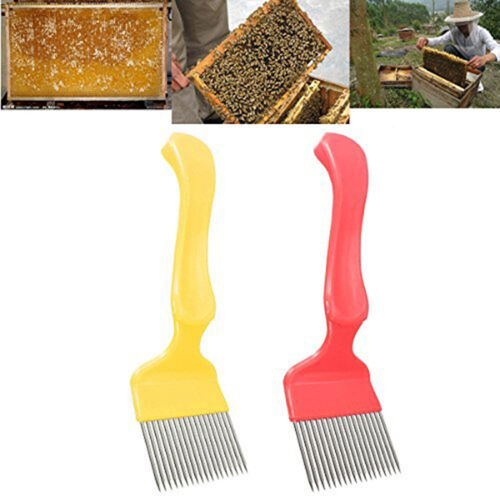 Yellow Steel Bee Keeping Honey Comb Beekeeping Tine Uncapping Fork Hive Tools