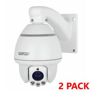 ESP-PTZ10INTW-Exterior-IR-PTZ-Wall-Pan-Tilt-amp-Zoom-Camera-Security-CCTV-2-Pack