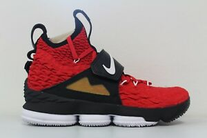 3617ec07bb549 Nike Mens Lebron XV Prime Red Diamond Turf DS AO9144-600 Size 9