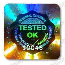 245x LARGE TESTED OK Security Hologram Stickers, 20mm Square Labels, QC Checked