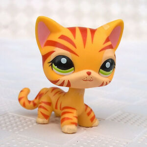 Littlest Pet Shop Toy Collection Lps Short Hair Cat 1451 Orange
