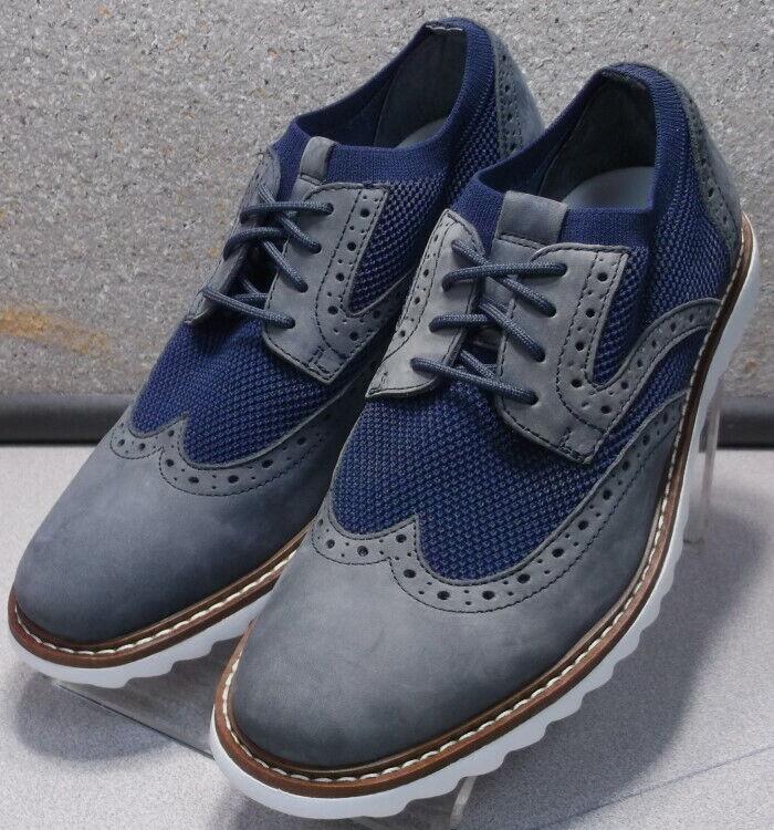 5910827 MS50 Chaussures Hommes Taille 10.5 m bleu marine lacets en cuir Johnston & Murphy