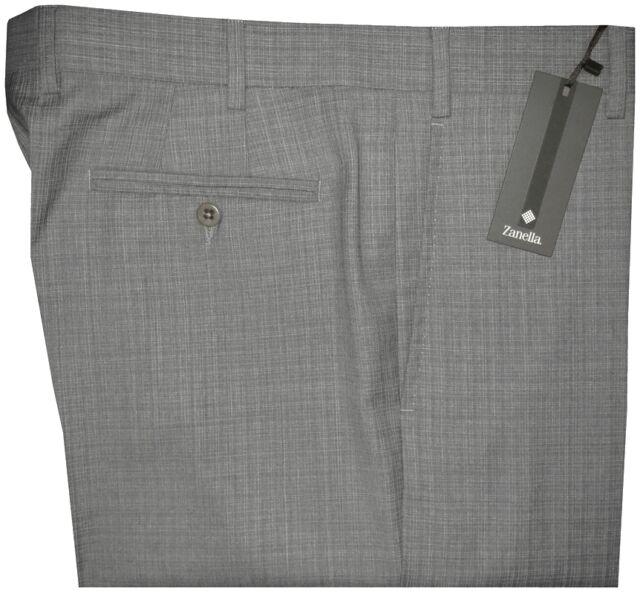 $365 NWT ZANELLA NORDSTROM DEVON GRAY SUPER 130'S WOOL DRESS PANTS 36