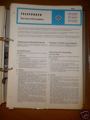 Gerade Service Manual Telefunken 304 Automatic Plattenspieler Tv, Video & Audio