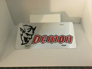 Dodge Demon License Plate Laser Cut Mirrored  Free Tracking