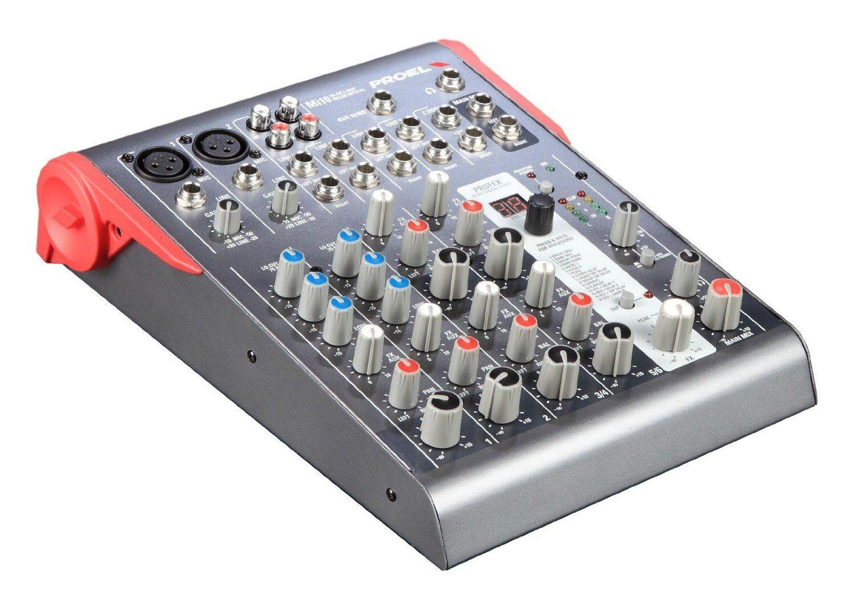 Proel Mi10 mixer professionale con effetti per studio, live, karaoke