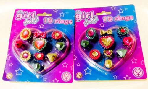 Pack of 10 rings.Toy New carded It/'s Girl stuff