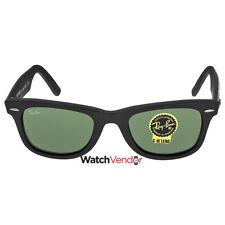 Ray-Ban Original Wayfarer Matte Black and Green Plastic Frames 50mm 2140-50-6065