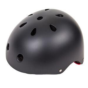 BIKE-GEAR-Small-Medium-21-1-4-to-23-3-4-flat-black-bicycle-skate-helmet-CPSC-S-M