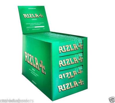 1000 Zickzack Grün Rizla Zigarettenpapiere 20 Packungen X 50 Papiere